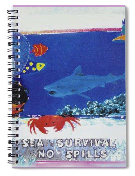 Sea Survival No Spills Spiral Notebook
