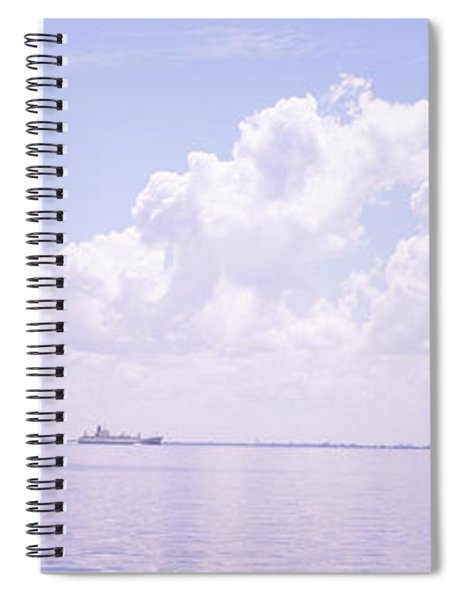 Sea With A Container Ship Spiral Notebook