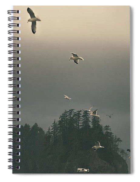 Seagulls In A Storm Spiral Notebook