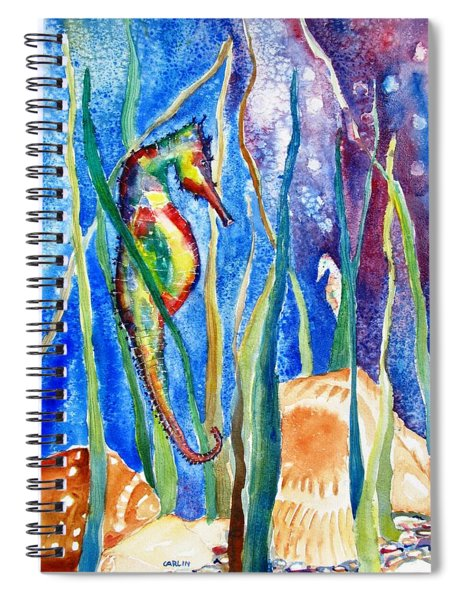 Seahorse And Shells Spiral Notebook