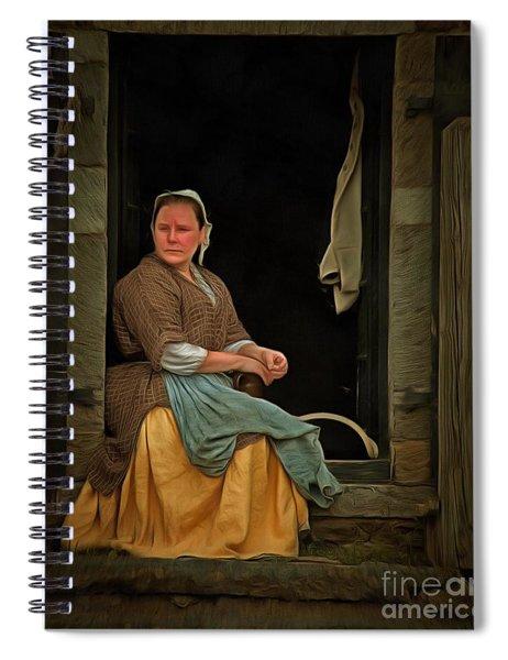 Seamstress Spiral Notebook by Edward Fielding