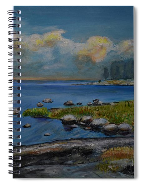 Seascape From Hamina 2 Spiral Notebook