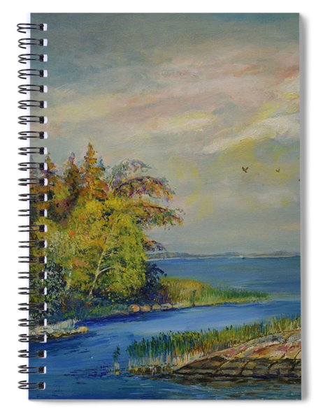 Seascape From Hamina 3 Spiral Notebook