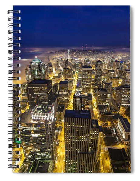 Seattle Downtown Dreamscape Spiral Notebook