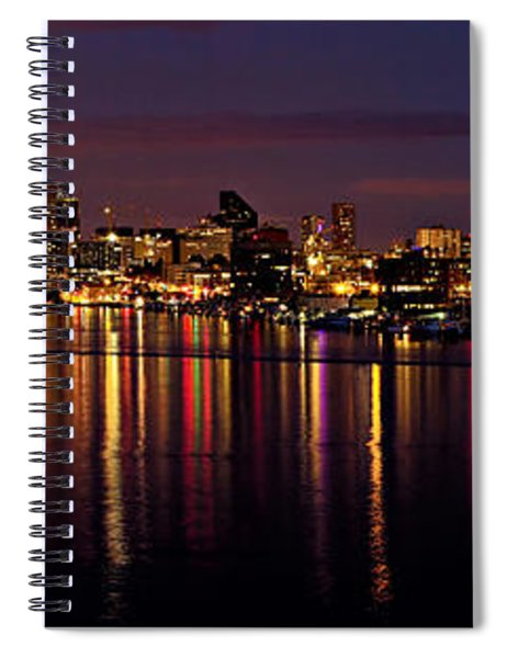 Seattle Night Reflections Spiral Notebook