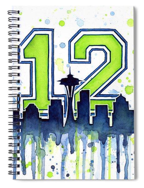 Seattle Seahawks 12th Man Art Spiral Notebook