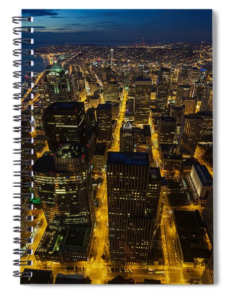 Seattle Sunrise And The Wheel Spiral Notebook