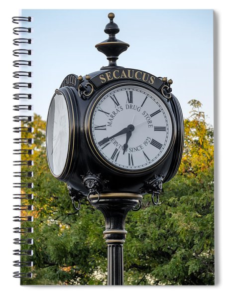 Secaucus Clock Marras Drugs Spiral Notebook