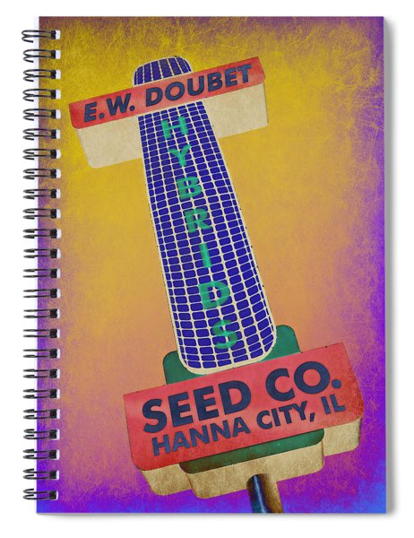 Seed Company Sign Abstract Spiral Notebook