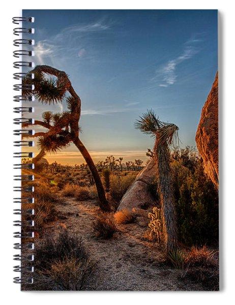Seeking The Light Spiral Notebook