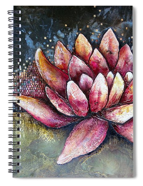 Self Portrait With Lotus Spiral Notebook
