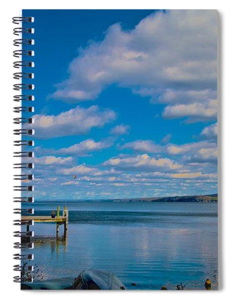 Seneca Lake At Glenora Point Spiral Notebook