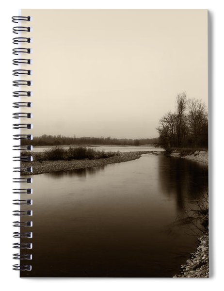 Sepia River Spiral Notebook