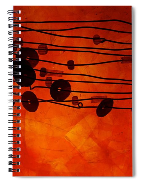 Sequence And Wire Spiral Notebook