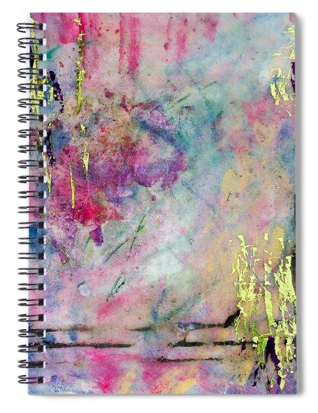 Serene Mist Encaustic Spiral Notebook