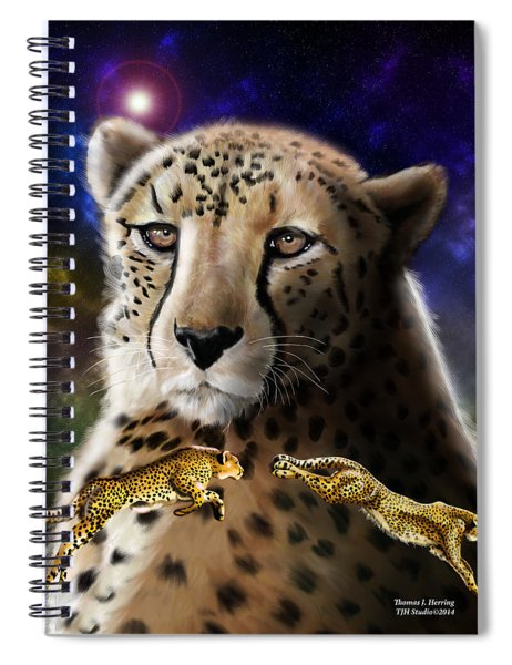 First In The Big Cat Series - Cheetah Spiral Notebook