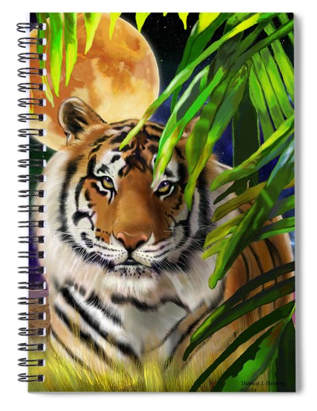 Second In The Big Cat Series - Tiger Spiral Notebook