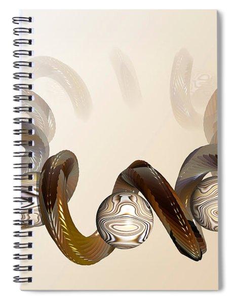 Serpentine Coils Spiral Notebook