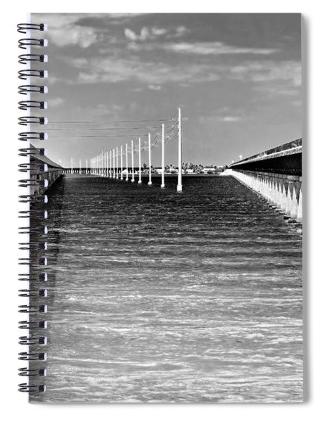 seven mile bridge BW Spiral Notebook