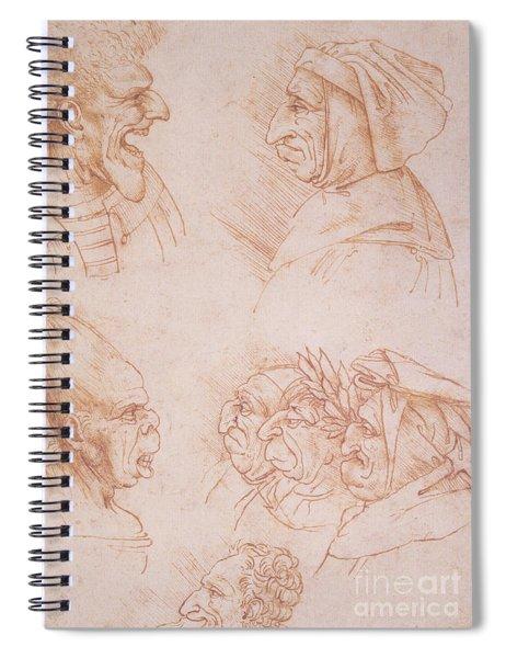 Seven Studies Of Grotesque Faces Spiral Notebook