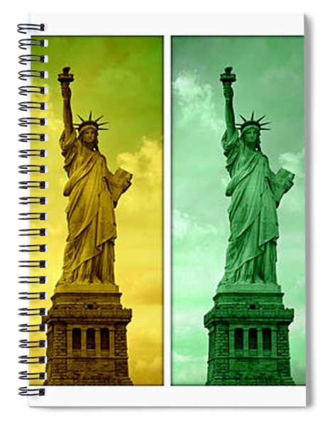 Shades Of Liberty Spiral Notebook
