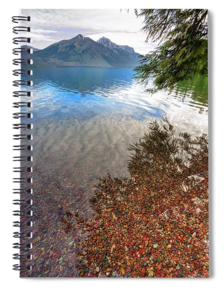 Shadow Pebbles Spiral Notebook