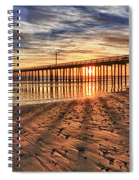 Shadow Rays Spiral Notebook
