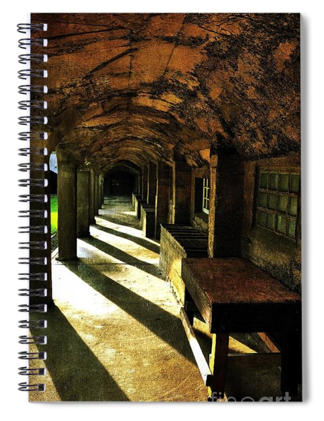 Shadows And Arches I Spiral Notebook