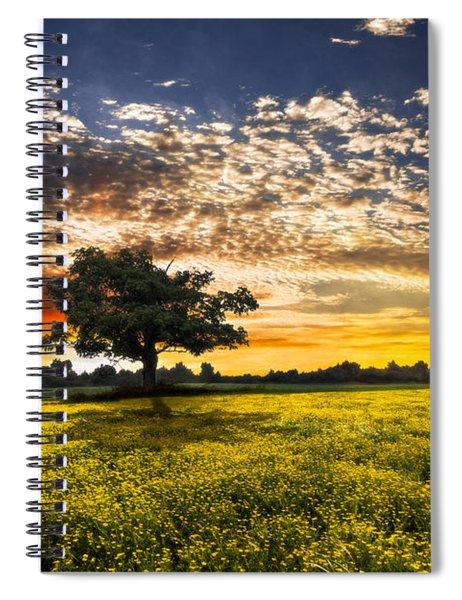 Shadows At Sunset Spiral Notebook