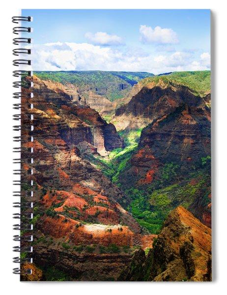 Shadows Of Waimea Canyon Spiral Notebook