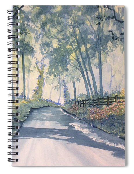 Shadows On The Setterington Road Spiral Notebook
