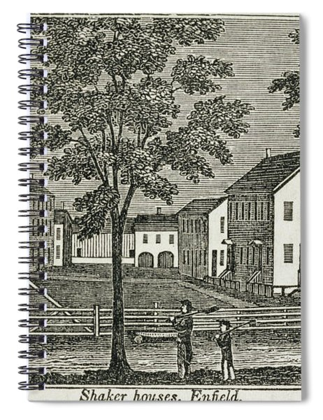 Shaker Houses In Enfield, From Connecticut Historical Collections, By John Warner Barber, 1856 Spiral Notebook