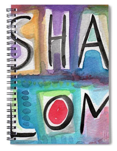 Shalom - Square Spiral Notebook
