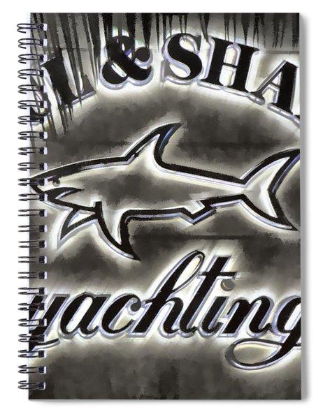 Shark Sign Spiral Notebook