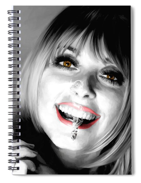Sharon Tate Large Size Portrait Spiral Notebook