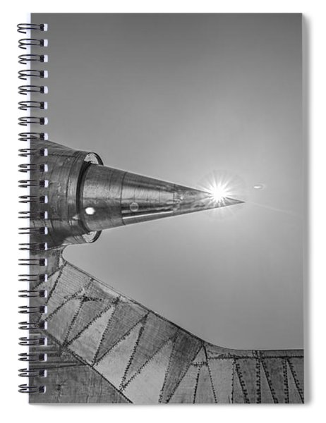 Sharp And Fast Avenger II Black And White Spiral Notebook
