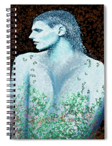 She In Blue Spiral Notebook
