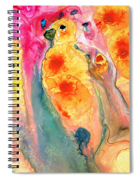 She Sings - Yellow Bird Art By Sharon Cummings Spiral Notebook