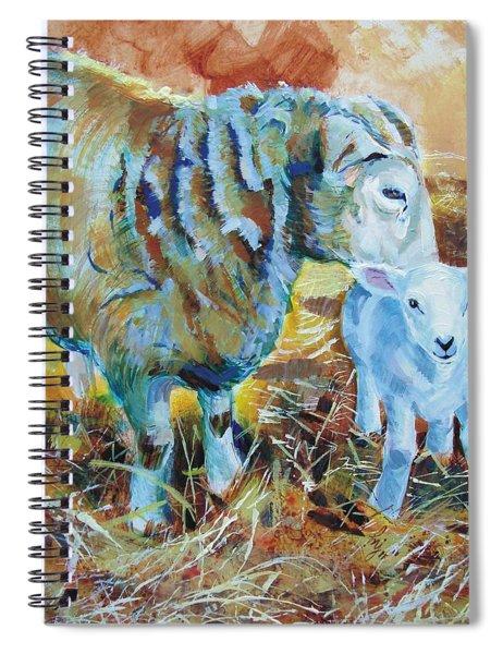 Sheep And Lamb Spiral Notebook