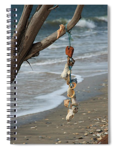 Shells On A String Spiral Notebook