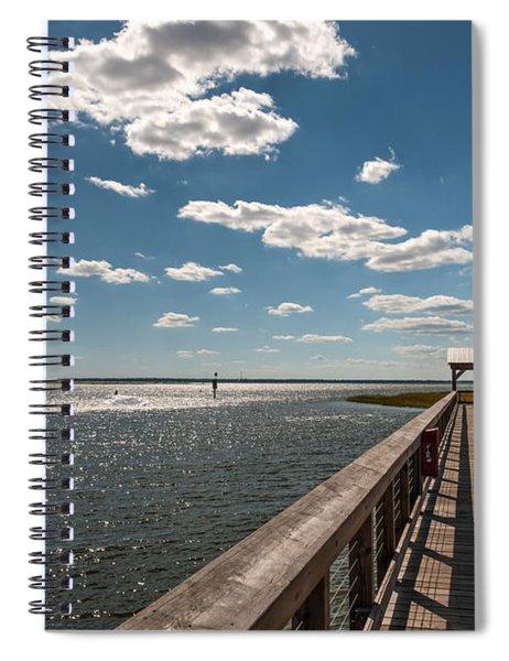 Shem Creek Pavilion  Spiral Notebook