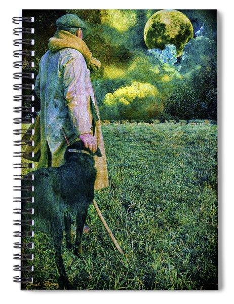 Shepherd And Moon Spiral Notebook