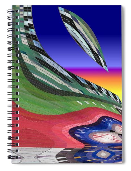 She's Leaving Home Abstract Spiral Notebook