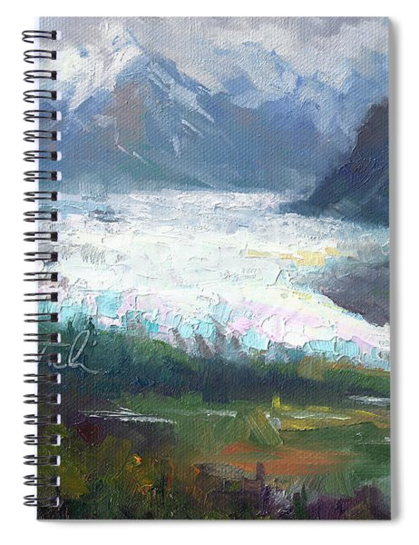 Shifting Light - Matanuska Glacier Spiral Notebook
