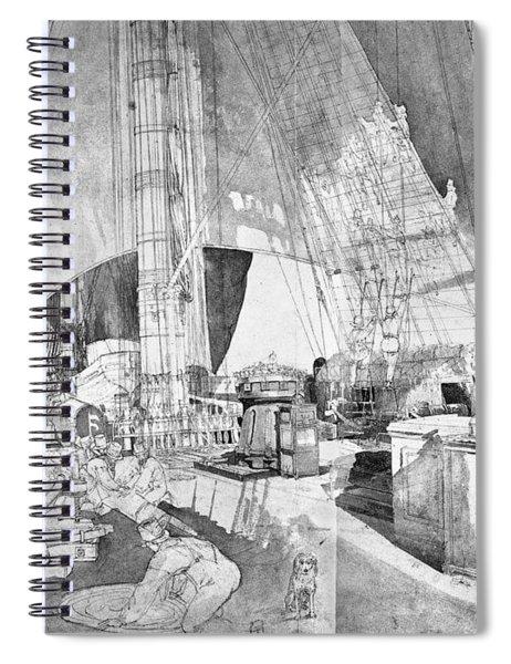 Ship Austria, C1816 Spiral Notebook