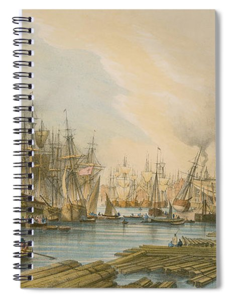 Ship Building At Limehouse Spiral Notebook
