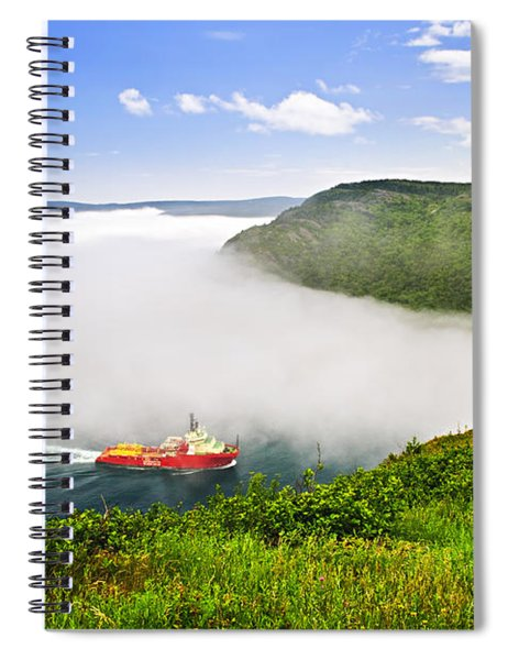 Ship Entering The Narrows Of St John's Spiral Notebook