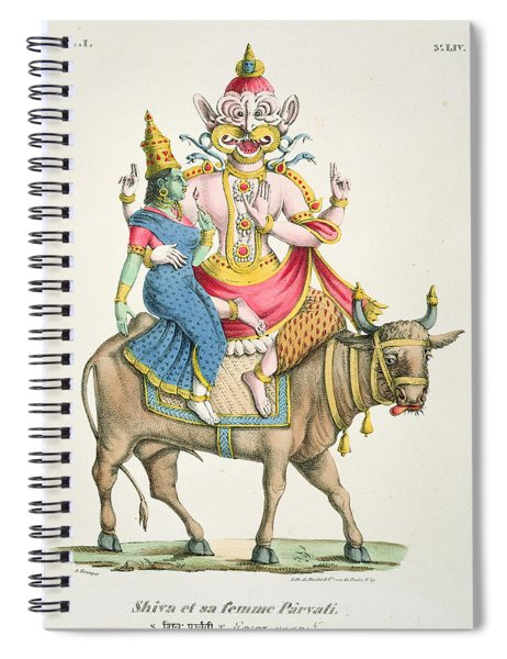 Shiva And Parvati, Engraved By De Marlet Spiral Notebook