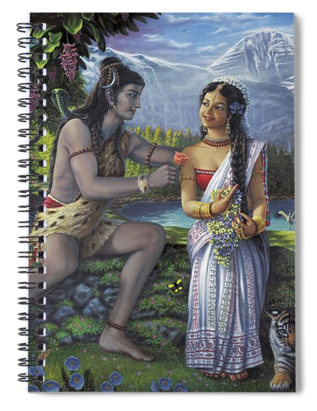 Shiva And Parvati Spiral Notebook