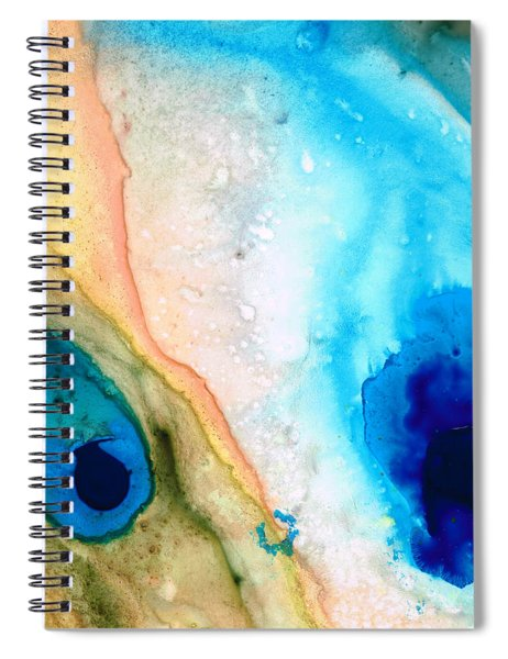 Shoreline - Abstract Art By Sharon Cummings Spiral Notebook